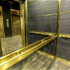 antique mirror, subway tiles, framed mirror, antique mirror elevator cab