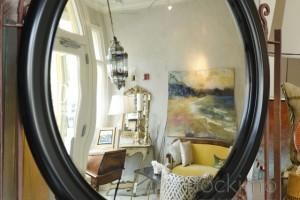 Fisheye Framed Mirror