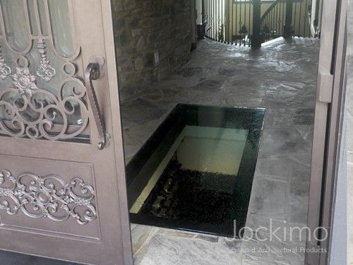 glass floor wine cellar full